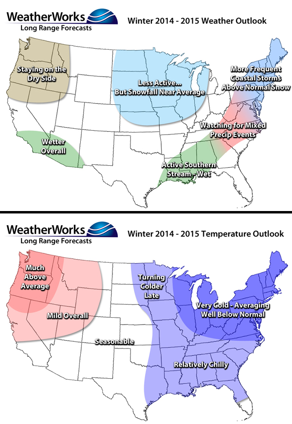 winter outlook winter outlook 2014 2015 weatherworks noaas comes out