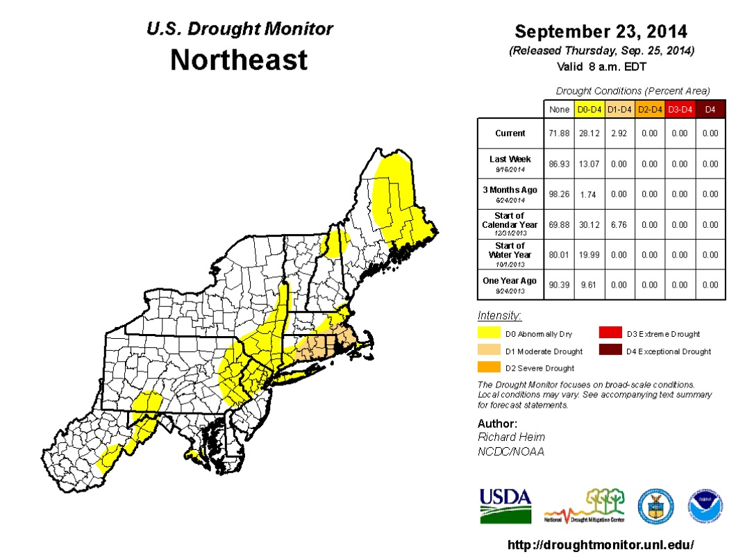 New England Drought Affecting Fall Foliage