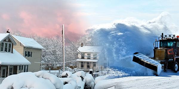 describe a snowy landscape